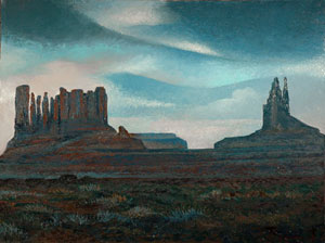 Arizona Navajo Tribal Park, oil on canvas