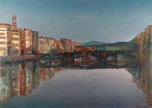 Florence Ponte a Santa Trinita and Ponte Vehio